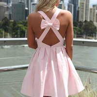 PRE SALE-Baby Pink Blessed Angel Cross  Bow Back Dress from xeniaeboutique