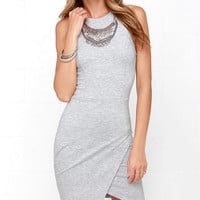 Rocksteady and Ready Heather Grey Bodycon Dress