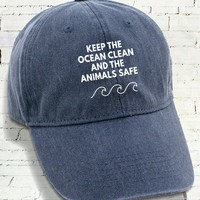 Keep The Ocean Clean And The Animals Safe - Caps
