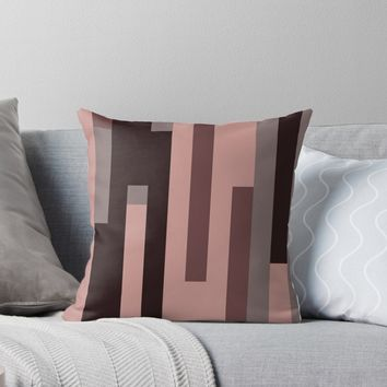 'Mauve Abstract 2' Throw Pillow by Christy Leigh
