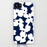 Dogwood: Navy iPhone & iPod Case by Eileen Paulino