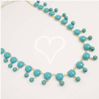 Long Turquoise Bubble Necklace
