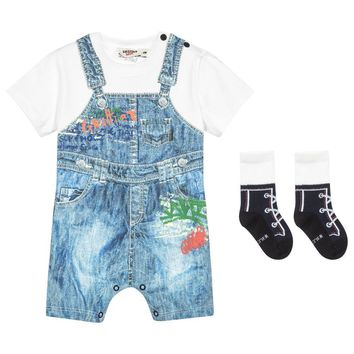 Junior Gaultier Baby Boys Romper Gift Set