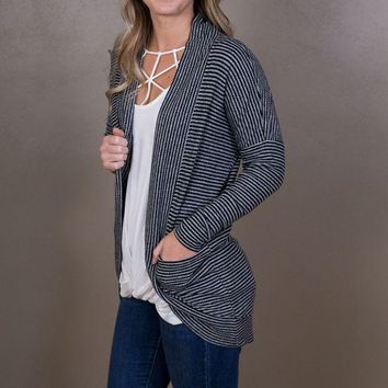 DCCKGE8 Striped Brushed Ribbed Cardigan - Z Supply