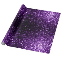 Trendy Beautiful Purple sparkles print Wrapping Paper by PLdesign