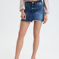 AE Denim X High-Waisted Mini Skirt, Rustic Blue