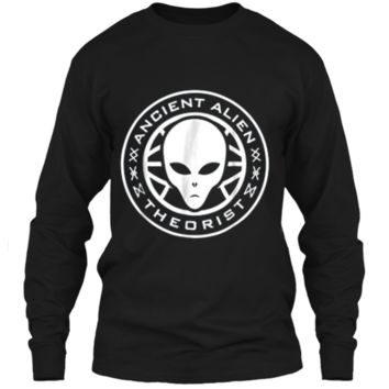Ancient Alien Theorist Alien Head Conspiracy LS Ultra Cotton Tshirt