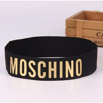 MOSCHINO JADIOR SUPREME Trending Women Men Stylish Sport Running Headband Hair Band