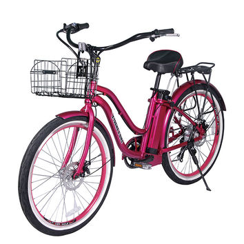 Malibu Beach Cruiser  Electric Bicycle, Lithium Batteries -300 Watts Rear Hub Motor