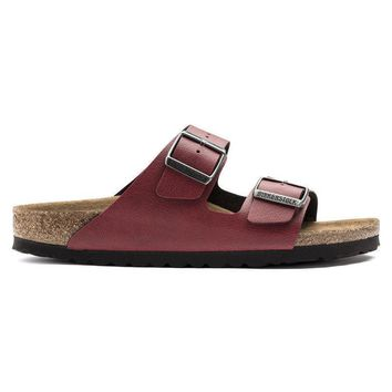 Birkenstock Arizona Birko Flor Pull Up Bordeaux 1009500/1009501 Sandals - Ready Stock