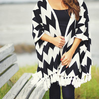 It's A Chev-olution Cardigan: Black | Hope's