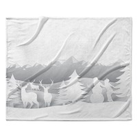 "Snap Studio ""White as Snow"" Simple Fleece Throw Blanket"