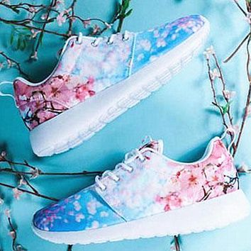 """NIKE"" Trending Fashion casual sports shoes Print light floral print"