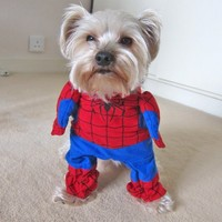 Dogloveit Dog Halloween Costumes Superhero Costume Spiderman - Size: XS