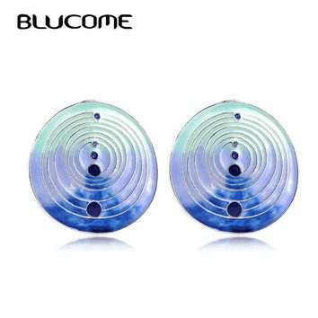 Women's Painted Enamel Stud Earrings.   In Colors of Blue, Green, Purple and Mixed Colors.   ***FREE SHIPPING***