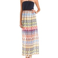 Belted Aztec Maxi Dress: Charlotte Russe