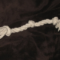 """14"""" Three knot Cotton rope dog toy / 100% unbleached natural / pet toy / dog chew / tug toy"""