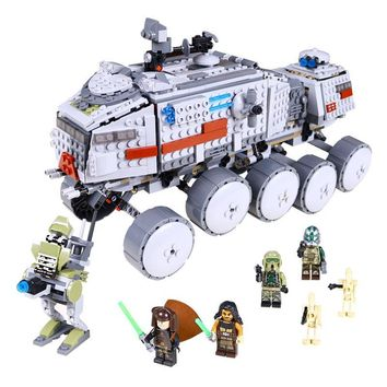 Star Wars Force Episode 1 2 3 4 5 New 933Pcs Lepin  05031 LegoINGlys 75151  Clone Turbo Tank Builing Blocks Bricks Compatible Toy Children Toys Gift model AT_72_6