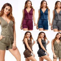 Plus Size Sexy Sleeveless Romper