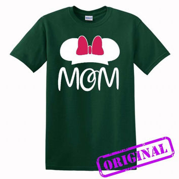 2 MOM Minnie Mouse for women for shirt forest green, tshirt forest green unisex adult