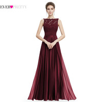 Evening Dresses Gorgeous Formal Round Neck Lace Long Sexy Red Women Party 2017 EP08352 Special Occasion