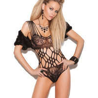 Vivace Lace Teddy W-cutout Detail Black O-s