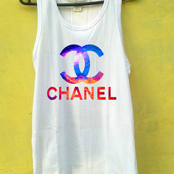 Chanel Tank Top, Tank Top Girls, Girls Tank Top, Mens Tank Top, Womens Tank Top, Black Tank Top, White tank Top