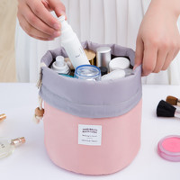 High Capacity Barrel Shaped Travel Women Brand Cosmetic Bags Nylon Organizer Toiletry Makeup Bags For Women Ladies Box Neceser