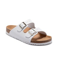 Birkenstock Arizona Sandals Couples Slippers - Patent White