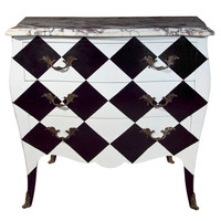Greenwich Living Antiques & Design Centre' - French Painted Marble Top Commode - 1stdibs