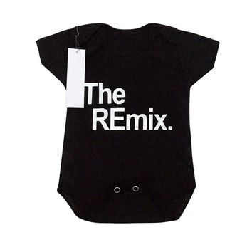 Unisex Infant Summer Short Sleeves Baby Romper with Fashion Letters Printing Boy Girl Casual Pullover O-neck Bodysuit Playsuit