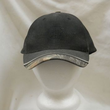 trucker hat baseball cap black plain nice style cool retro half camo curved brim