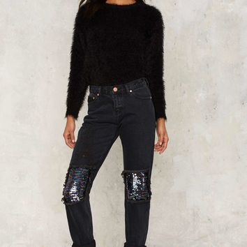Glamorous Weak in the Knees Sequin Jeans