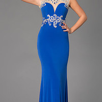 Backless Long High Neck Prom Dress by Alyce 6393