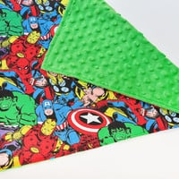 Baby Security Blanket - Super Hero Marvel - Baby Blanket, Infant Blanket, Marvel Baby, Baby Easter gifts, Baby Boy Blanket, Baby Lovey