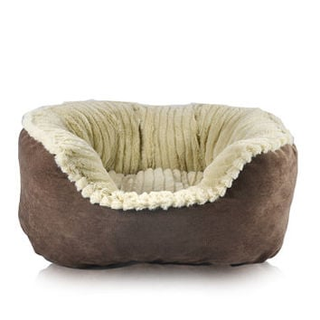 Cozy Carved Plush Pet Bed Warm Super Soft Fleece 3 Sizes