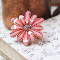dahlia delicacy flower ring - $12.99 : ShopRuche.com, Vintage Inspired Clothing, Affordable Clothes, Eco friendly Fashion