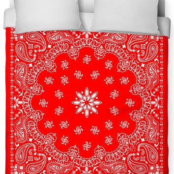 ROB Red Bandana Duvet Cover
