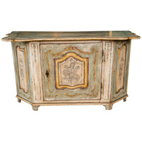 Paint Decorated 18th-19th Century Buffet or Cabinet