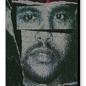 The Weeknd Can't Feel My Face Song Lyrics Mosaic Print Limited Edition