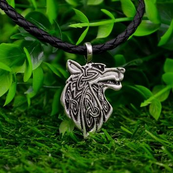 Viking necklace  Animal Teen Wolf Necklace men Fashion Jewelry pendant Supernatural Amulet Knot