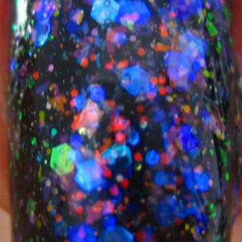 A Theory Of Everything: Flakie flaky Glitter Color shift Nail Polish Full size .5 oz Coco Allure