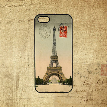 Eiffel Tower Paris Vintage Postcard,Samsung galaxy S3 case,galaxy S4 case,note 2 case,iPod 5 case,iphone 4 case,iphone 4S case,iphone 5 case
