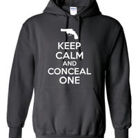 Keep CALM And CONCEAL ONE Great Graphic Hoodie To Show You Support Your Constitutional Right