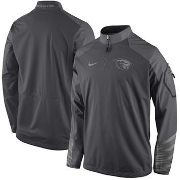 Oregon State Beavers Nike Sideline Fly Rush 2.0 Jacket - Anthracite - http://www.shareasale.com/m-pr.cfm?merchantID=7124&userID=1042934&productID=551045304 / Oregon State Beavers