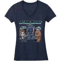 Star Wars Women's  Sound Effects Girls Jr Navy Heather