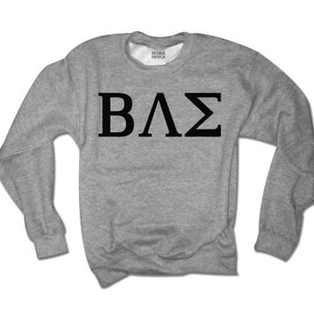 Greek Life BAE Crewneck | Unisex Greek Life Sweatshirt | College Student Sorority Big and Little | Baesic Sweater | Uggs and Pumpkin Spice