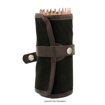 Canvas Pencil Wrap, Pencil Roll Case, Roll-Up Pencil Holder; Art, Drawing Supplies