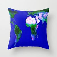 Gall Peters Map Throw Pillow by 2sweet4words Designs | Society6