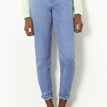 Internet Exclusive - Supersoft Bleach High Waisted Mom Jeans - New In This Week - New In - Topshop